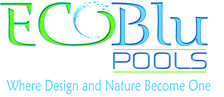 Ecoblu pools logo with tag line