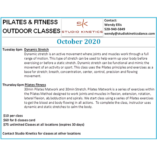 outdoor pilates at the pavillion in carefree